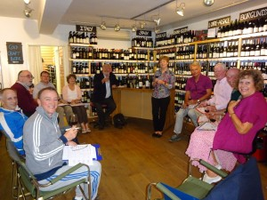 The wine tasting course in full flow at The Good Wine Shop!